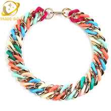 Buy Colorful Bib Choker Statement Necklace 2016 New Collana Fashion Jewelry Necklace Women Accessories Necklaces & Pendants Joyeria for $4.06 in AliExpress store