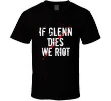 Buy 2017 New Fashion Man Glenn Dies Riot T Shirt Walking Dead RIP Glenn Letter T Shirt men Casual White T-shirt Custom for $12.31 in AliExpress store