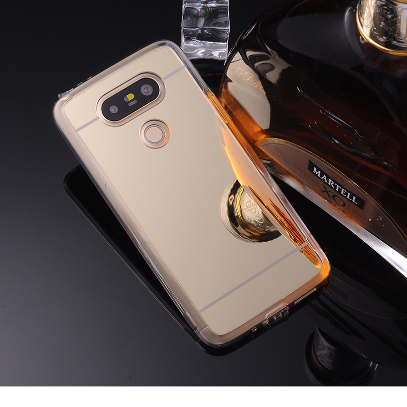 Plating Mirror TPU Mobile Phone Cases LG Optimus G5 F700 H830 H850 H858 VS987 H820 LS992 US992 Back Cover Bag Silicone  -  TAOYUNXI 3C Products Mall store