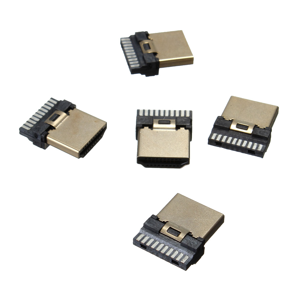 Brand New High Quality Durable 5Pcs HDMI 19Pins Male Video Termination Repair Replace Kit Gold Plated Connector(China (Mainland))