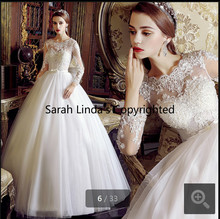 2015 amazing a line white lace appliques long sleeve wedding dresses gorgeous hollow back and bow modern bridal gowns(China (Mainland))