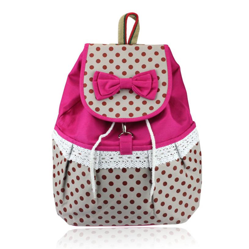 Лучший девочка прекрасный сладкий дутый брезент рюкзак школа сумки для студент