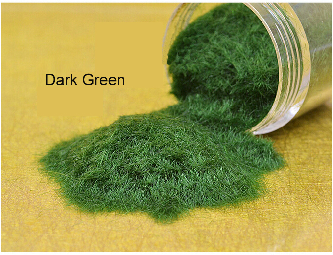 50G DARK GREEN Sand Table DIY Architectural Model Layout Nylon Grass Powder(China (Mainland))