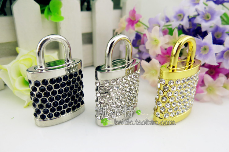 Wholesale U disk 4GB 8GB 16GB 32G 64GB gift u disk stainless steel Crystal lock company lettering custom logo USB flash drives(China (Mainland))