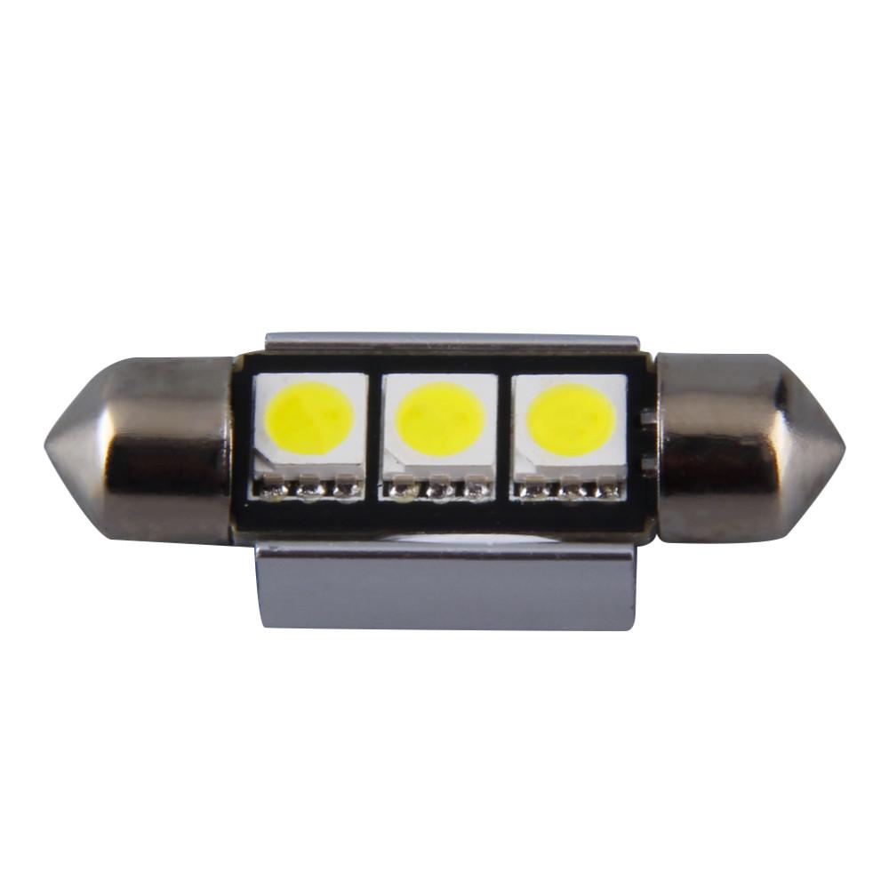 1Piece canbus Super Bright 36MM 39MM 3SMD 3led 5050 SMD C5W Interior Festoon car LEDs Festoon Dome Light Bulb Reading Lights(China (Mainland))