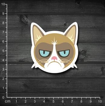 Single grumpy cat meow star who Grumpy Cat spoof laptop stickers waterproof box affixed tide<br><br>Aliexpress