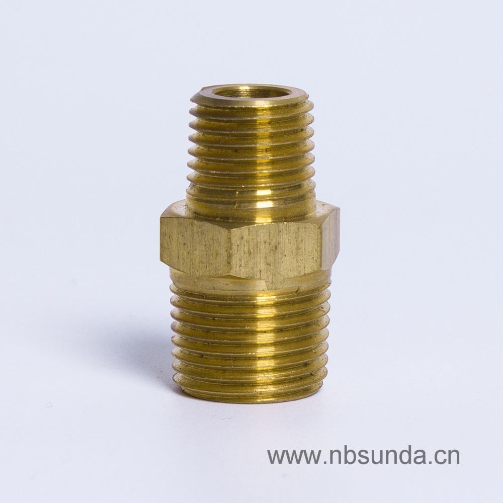 Pcs per lot bsp copper pipe nipple brass hose