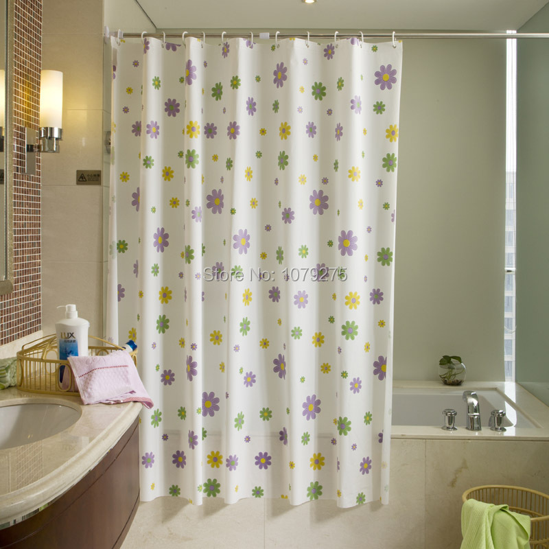 Rural romantic shower curtain flower bath shower curtain semi-permeable fabrics manufactured goods(China (Mainland))