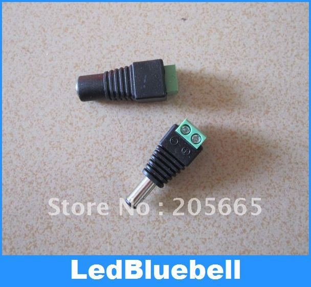 DC Connector male/Female Plug Adapter Connector For 5050 / 3528 SMD LED single color Strip Light(China (Mainland))