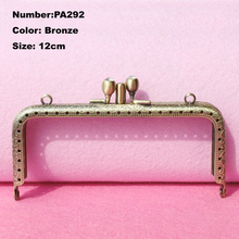 Purse Frame Hanger Embossing Square Double Layer 12cm Bronze Metal Clasps Purses Accessories Handles Handbags Diy Bag Parts(China (Mainland))