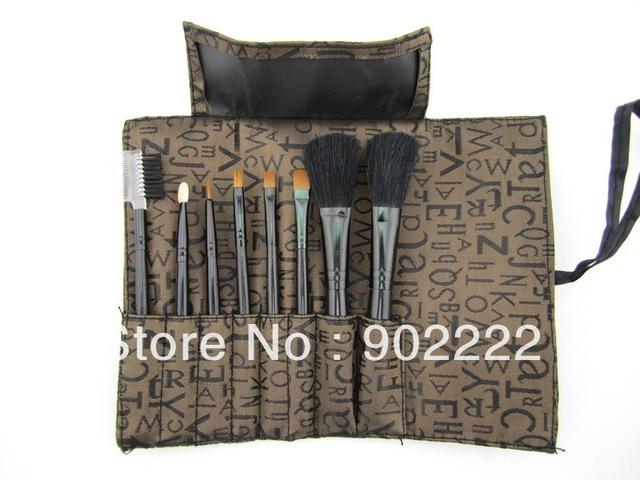 free shipment 6sets Makeup Brush set 8-in-1 Cosmetic Brushes Applicators Set&Case Make-Up Brush Set Case