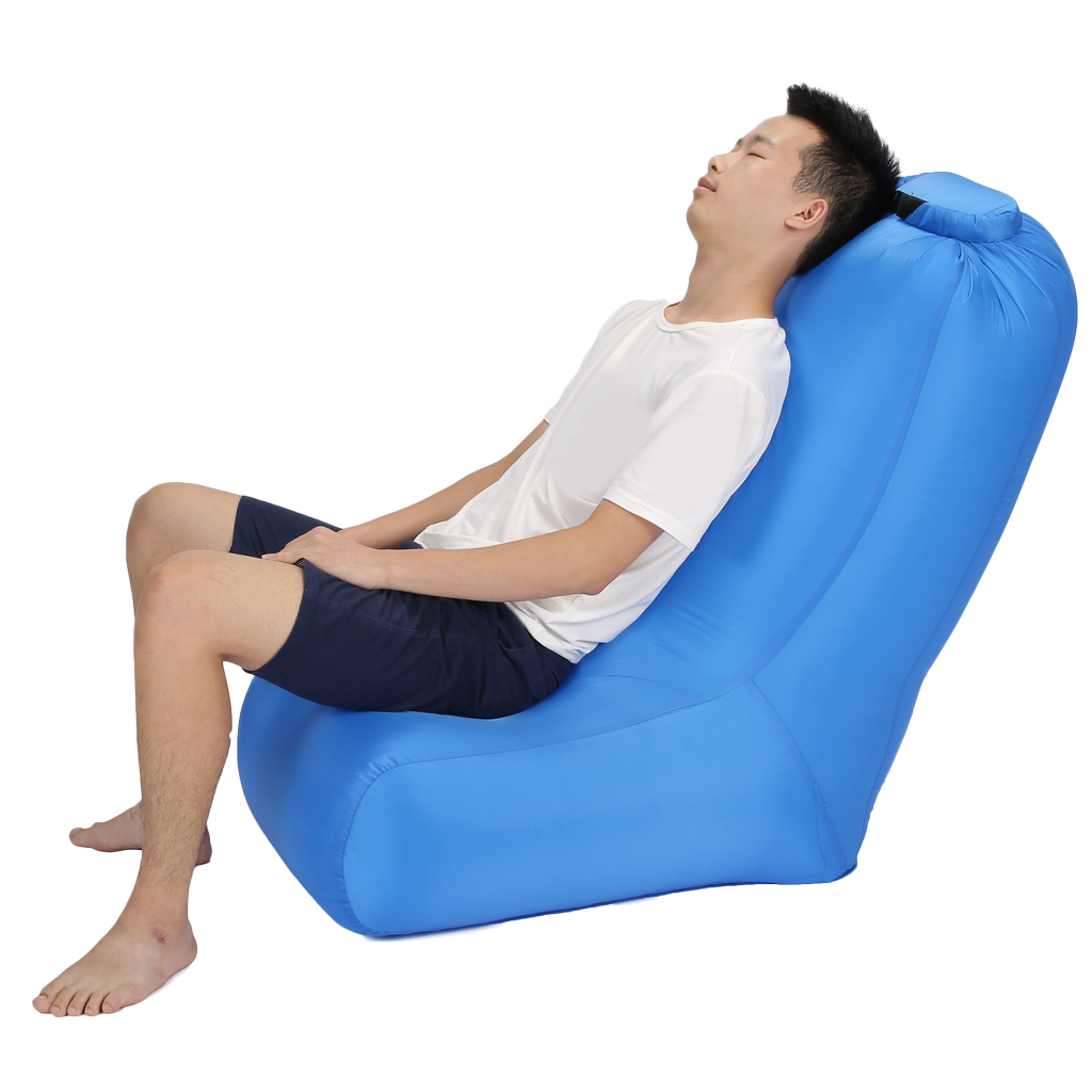 Camping Inflatable Lounger Inflatable Beach Sofa Bean Bag Sleeping Bags for Indoors/Outdoors