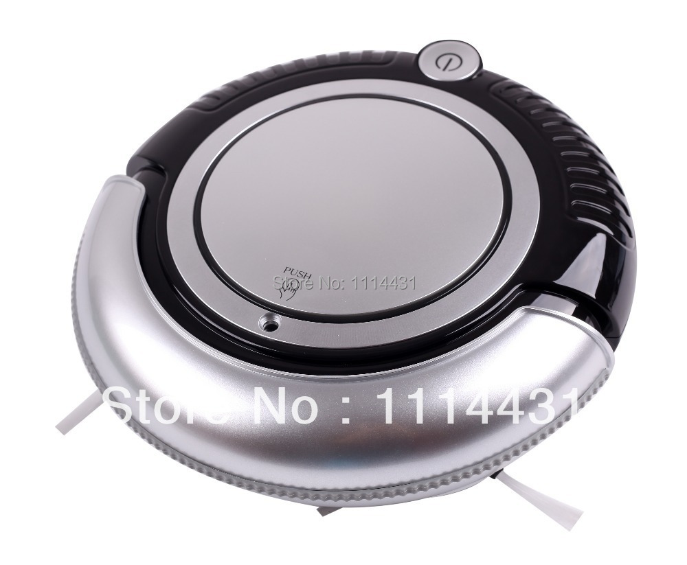 Free Shipping Mini Vacuum Cleaner Robot With Vacuum, 2pcs Side Brush Sweep, Mop,Flashing LED Lights,3 Working Modes(China (Mainland))