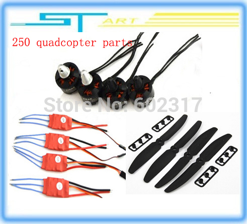 DIY 1EMAX MT1806 Brushless Outrunner Motor 12A ESC 5030 Prop Quad-Rotor Set RC Aircraft Multicopter 250 quadcopter
