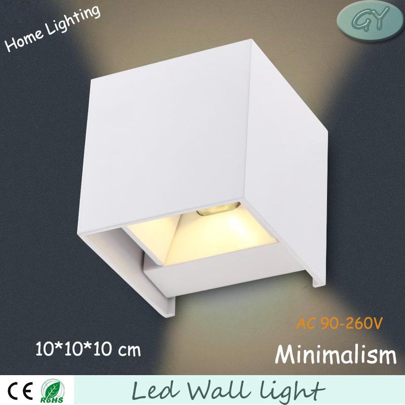 6w led wall lamp waterproof IP63 up and down wall light sconce lampadas luminarias arandela de parede free shipping(China (Mainland))