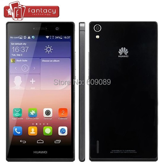 "Original Huawei Ascend P7 L00 4G FDD LTE Hisilicon 910T Quad Core 5.0"" 1920x1080P 2GB RAM 16GB ROM 13MP Multi Lang Mobile Phone(China (Mainland))"