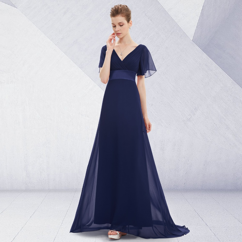 Satin Padded Trailing Long Women Evening Dresses Gown Vestidos Para Festa HE09890 2015 New Arrival Robe De Soiree Summer Style(China (Mainland))