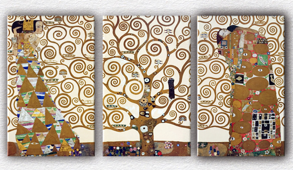 3 pcs Gustav Klimt Tree of Life Living room Mural for home decoration picture print oil paintings Large canvas art cheap(China (Mainland))