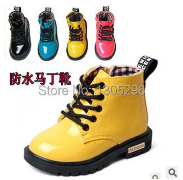 Фотография New 2014 Spring Boys Girls shoes PU leather Children