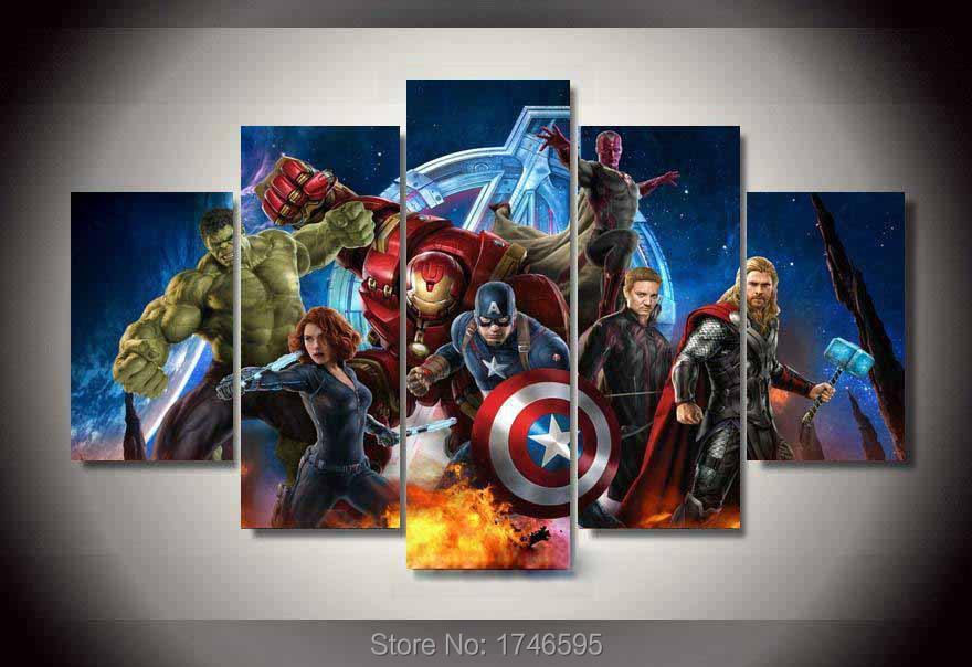 Buy big size home living room decor kids for Avengers wall mural