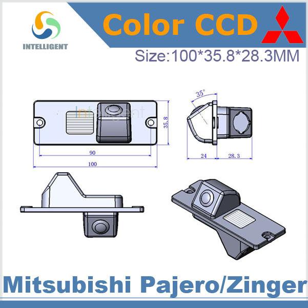 Free shipping Car rear view camera For Mitsubishi Pajero Zinger HD CCD night vision car parking camera