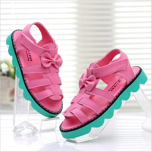Лето свободного покроя кисточка дети девочки полиуретан кожа сандалии мягкий нижний обувь дети в сандалии обувь для дети размер 26 - 30