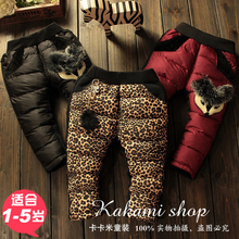Children wear winter  Korean girls baby girl thick baby trousers warm down cotton pants trousers(China (Mainland))