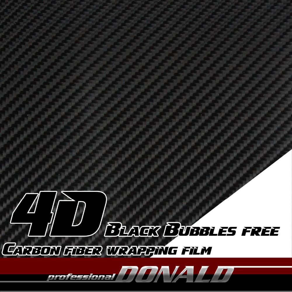 3Mx50cm 4D Carbon Fiber Vinyl Film Sticker Wrap Decal Bubble Free Air Release Black For Car Hood Roof Bumper Fender Whole Body<br><br>Aliexpress