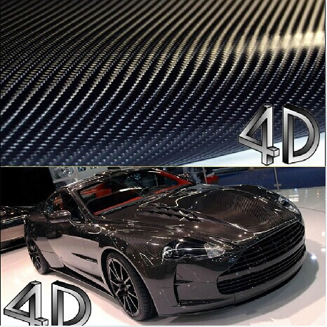 Free Shipping 200x50cm 4D Carbon Fiber Vinyl Film 3M Car Sticker Waterproof DIY Car Styling Color Wrap With Retail packaging(China (Mainland))