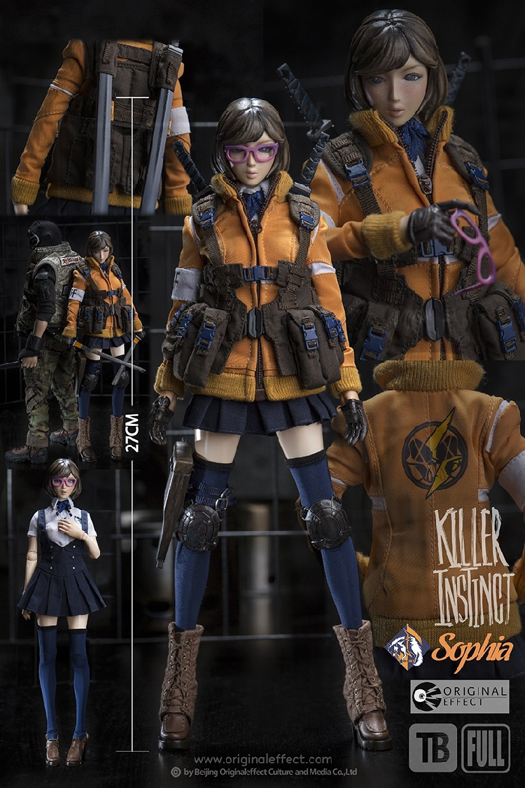 "OE Original Effect 1/6 scale Killer Instinct 3 Sophia with Teenie Body 12"" Collector Action Figure in stock Freeshipping(China (Mainland))"