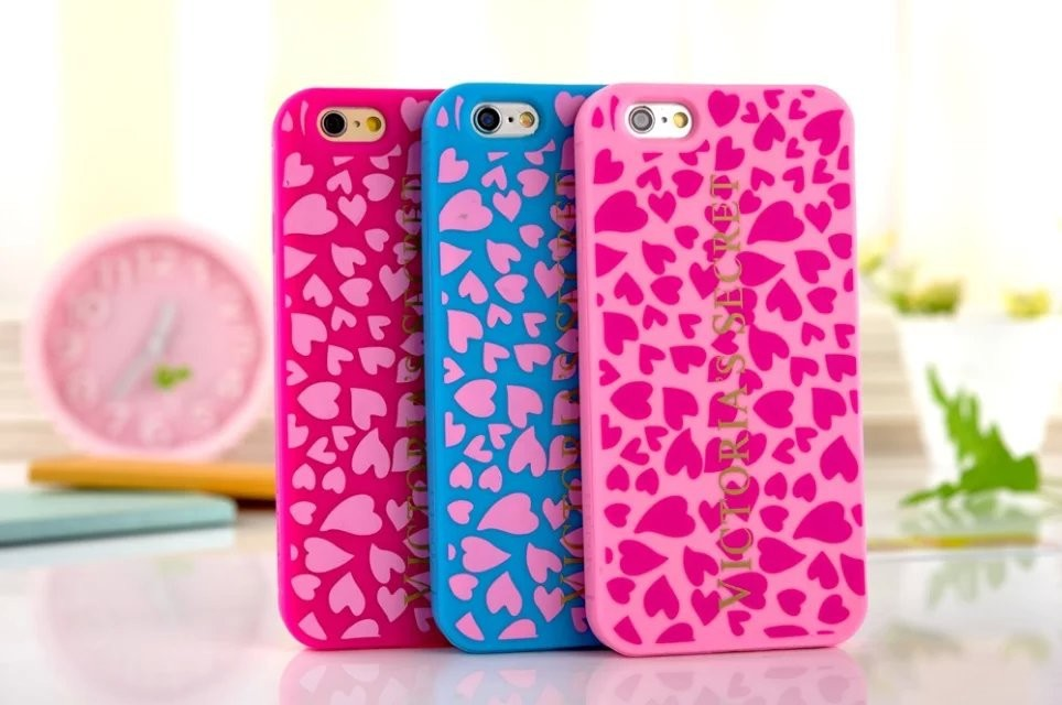 Love Heart Victoria/'s Secret PINK Case For Apple iPhone 6