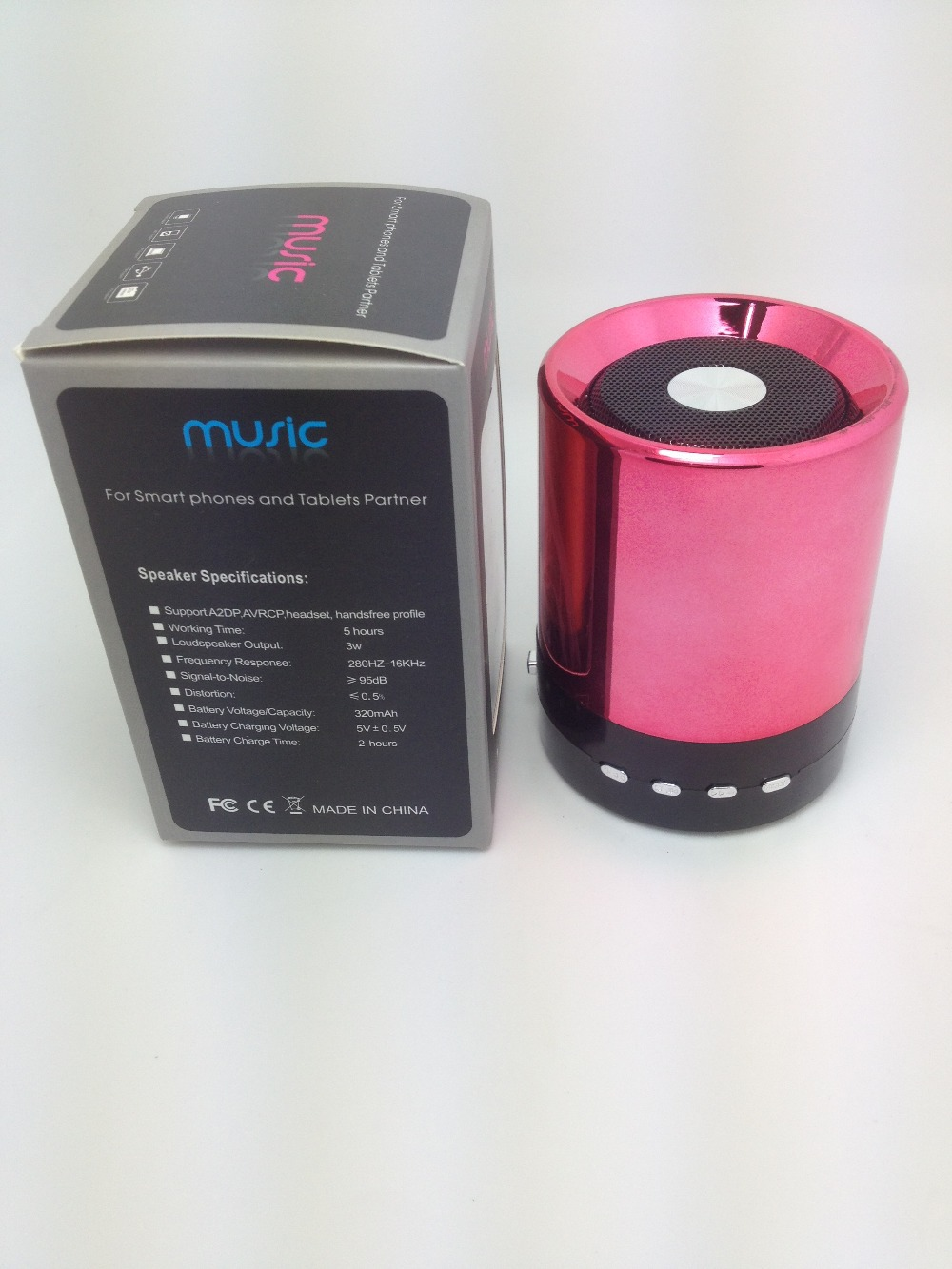 100%Brand New wireless bluetooth audio hands-free megaphone mini card speaker walkman cheap minispeaker(China (Mainland))