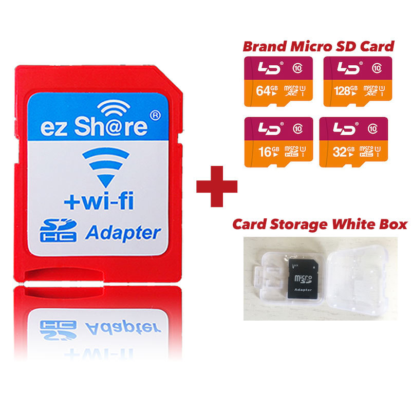 ez Share WiFi Adapter Plus Micro SD Card 32GB 16GB Class 10 8GB Class 6 WiFi SD Card ezShare SD WiFi Adapter for SLR DSLR Camera(China (Mainland))