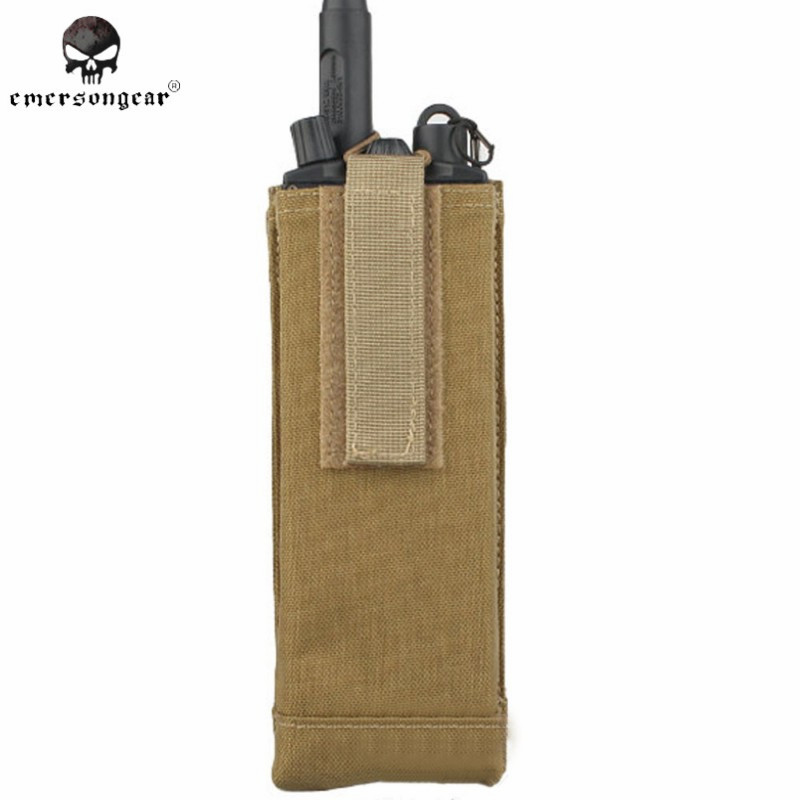 EMERSON CP AVS Style PRC 148/152 Radio Walkie Talkie Pouch Holster Military Waist Gear Tool Bag Hunting Accessories EM8334 KH ^