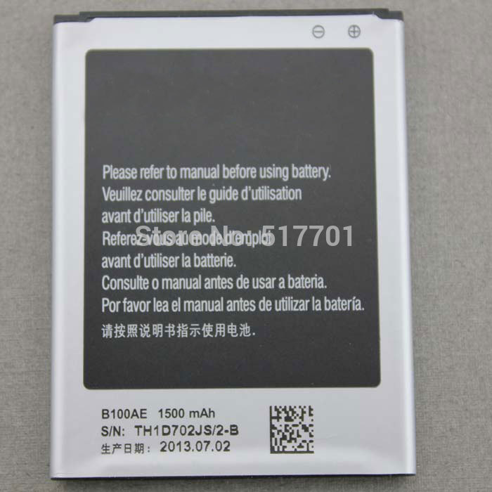 Free shipping high quality mobile phone battery B100AE for Samsung S7898 S7270 S7272 S7562C S7272C S7278 S7568I I629 I679
