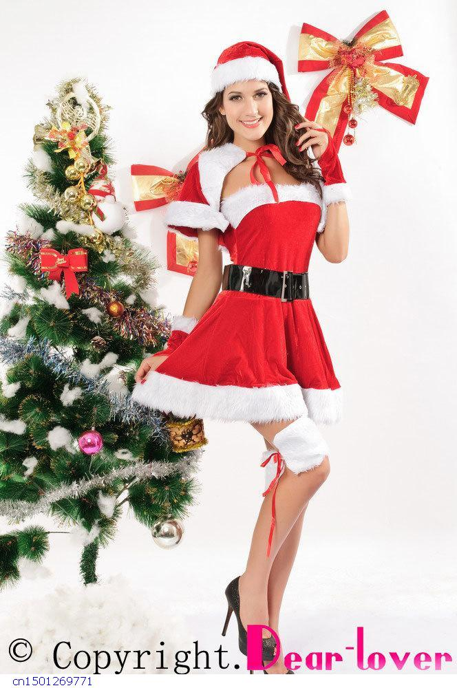 2015 Sexo Sexy Lingerie Sex Products Christmas Costume Dress Wholesale & Retail,velvet Santa Lc7152 New Cospaly Fantasia Girl(China (Mainland))