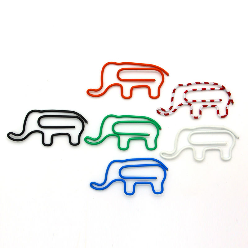 Creative animal modelling color elephants paper clips, student stationery paper clip clamps2