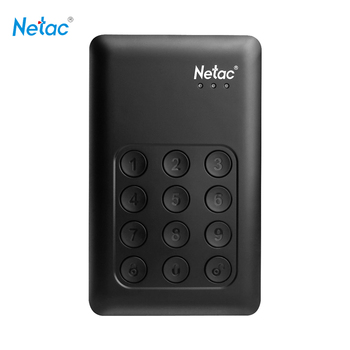Netac K390 2TB USB3.0 External Hard Drive Disk Keypad Lock HDD AES 256-bit Hardware Encryption HD Hard Disk Externo Disco
