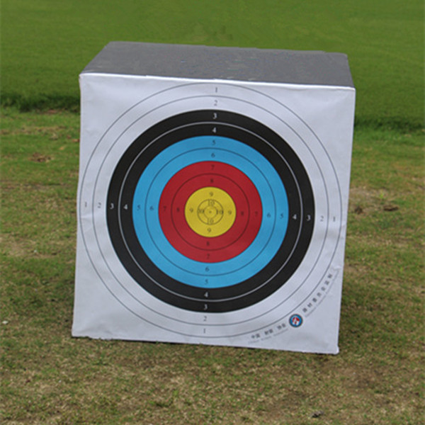 10PC Shooting Target 10 Rings Colorful Rainbow Archery Arrow Target Sheet For Competition Training Shooting and