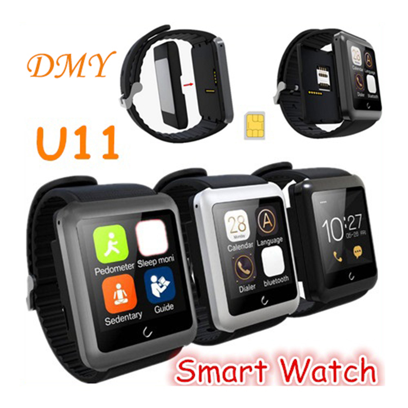 New Bluetooth Smart Watch U11 Uwatch Smartwatch Wristwatch Handsfree Anti-Theft Support SIM Card for ios Android Mobile Phone(China (Mainland))
