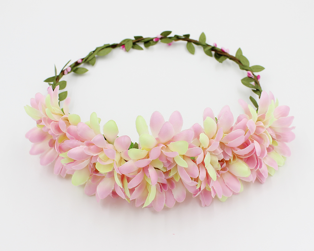Bohemian Bridal Jewelry Sunflower Head Wreath Floral Flower Hair Garland Crown Head Band Kids Young girls Festival Gift(China (Mainland))