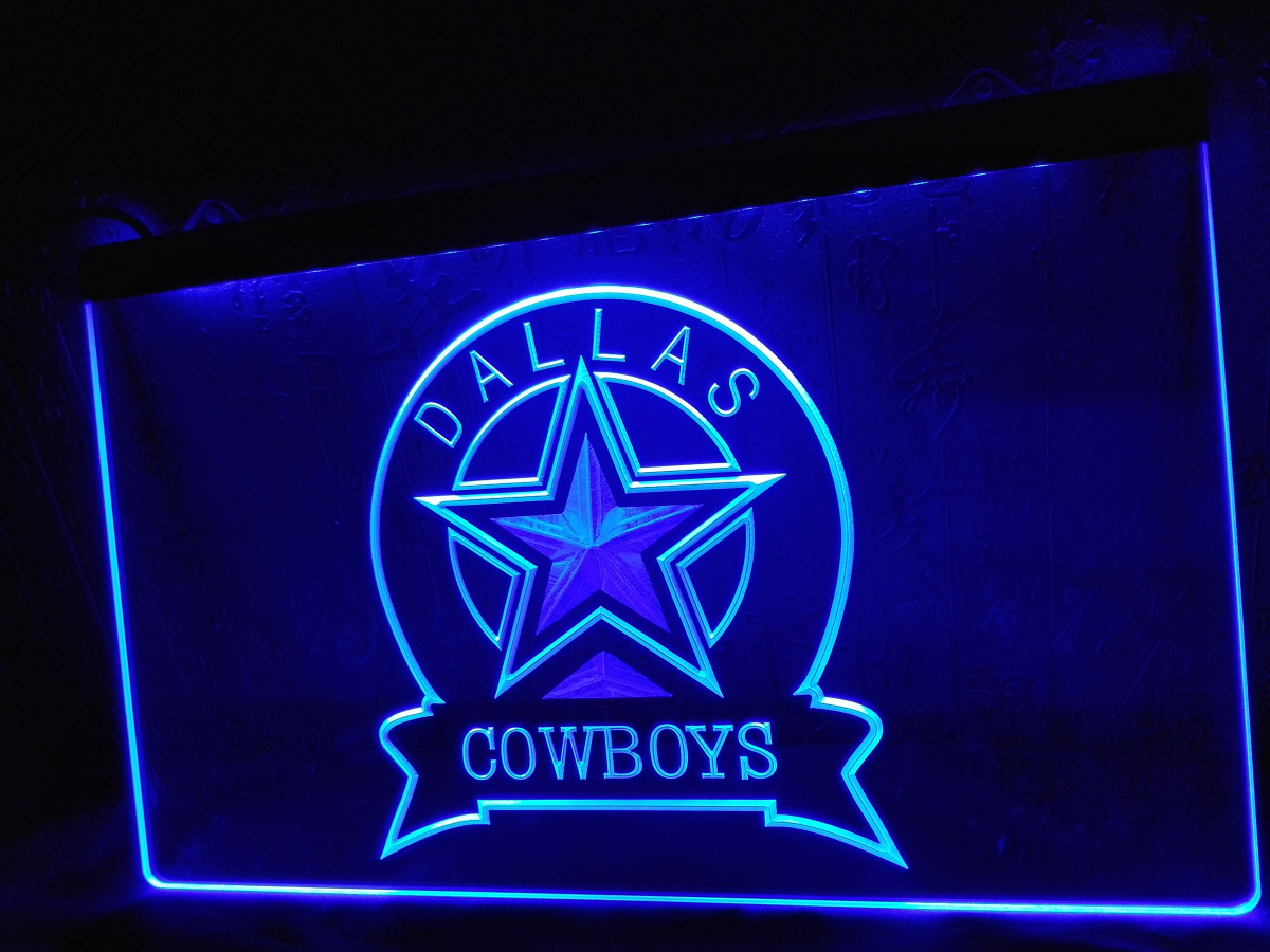 Ld239 Dallas Cowboys Sport Bar Led Neon Light Sign Home