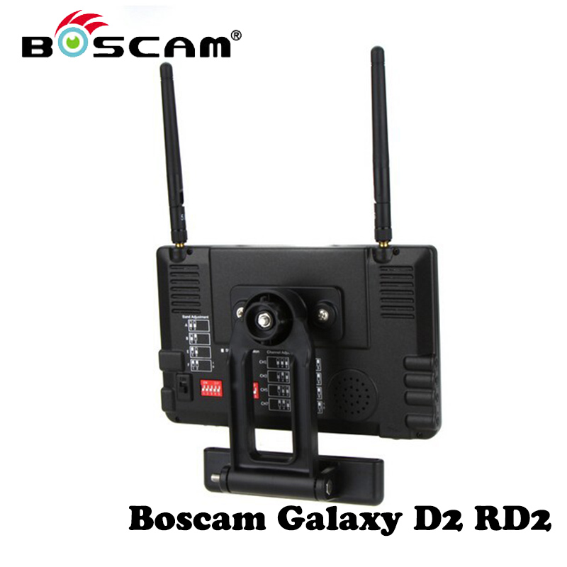 Boscam FPV Monitor 5.8G 32CH Galaxy D2 RD2 FPV LCD 7 Inch Displayer w/ Built-in Dual Receiver Antenna Sunhood For RC Quadcopter