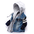 Children Denim Vests 2016 Spring And Autumn Fashion Kid Boy Cowboy Waistcoats Coat Casual Hooded Zippered