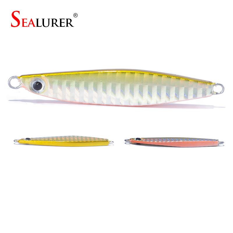 SEALURER Jig 22g 70mm knife Jigging Seawater Spoon Slow Jigging Lure artificial bait boat fishing jigs lures(China (Mainland))