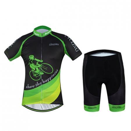 2015 Fashion Men Cycling Jersey Set Bike Bicycle Short Sleeve Jersey Shorts Greenside<br><br>Aliexpress