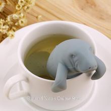 2015 Fashion Silicone Sea Lion Tea Strainer Tea Filter Manatee-Shaped Tea Infuser(China (Mainland))