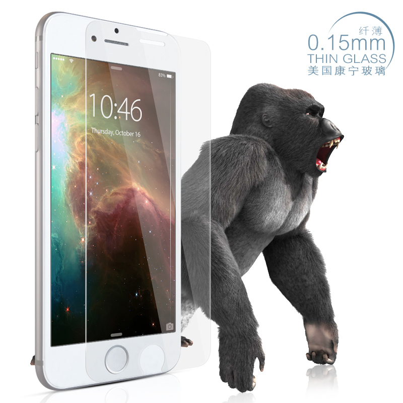 10pcs/lot 0.15mm ultra thin Corelle gorilla glass screen protector for apple iphone 6 plus 5.5inch tempered glass film guard(China (Mainland))