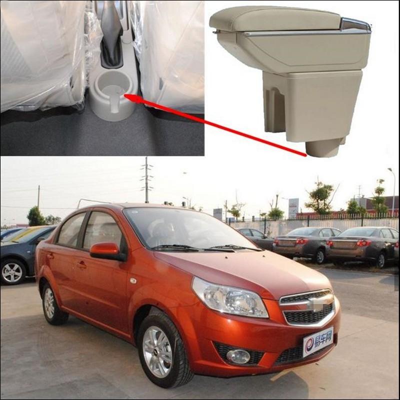 Купить Автомобиль Подлокотник Магазин контент коробка Для Хранения с обладатель кубка пепельница Аксессуары для Chevrolet Aveo Lova 2010