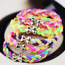 10 Pcs/ Lot New Fashion Braided Super Stretch Hair ties/ Elastic Hair Bands Women Hair Accessories(China (Mainland))